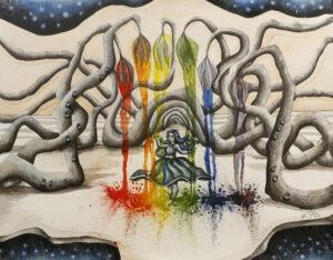"""""""Alicia en el jardín del arco iris"""" de Joset Medina"""